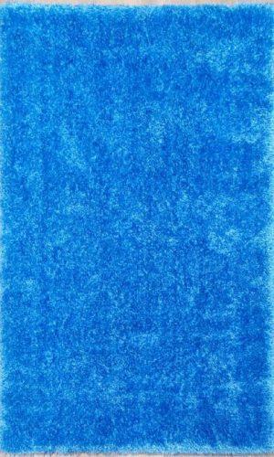 שטיח שאגי כחול PUFFY