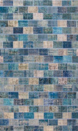 שטיח MAZZERINE BLUE קוביות קטנות
