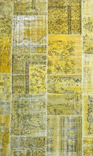 שטיח טלאים צהוב