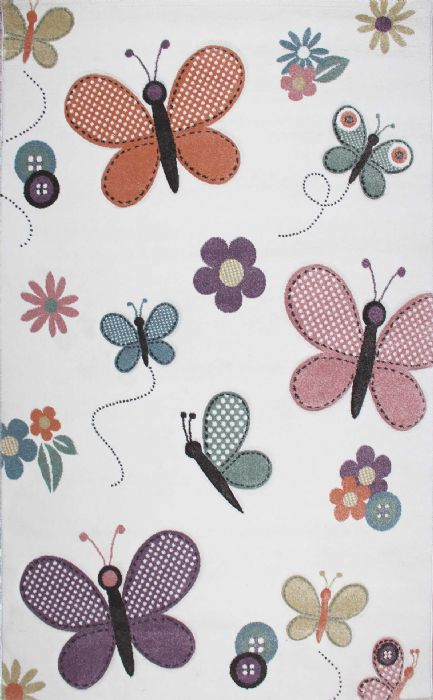 שטיח עם פרפרים