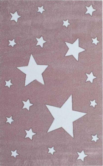 שטיח ורוד כוכבים לחדר ילדים