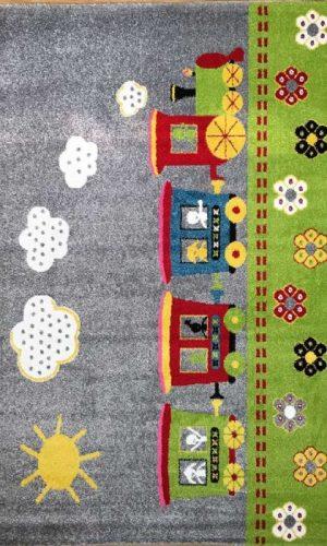 שטיח רכבת ההפתעות אפור