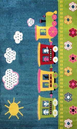 שטיח רכבת ההפתעות כחול
